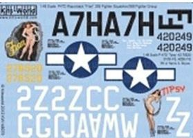 Warbird P47D Fran, Tipsy Plastic Model Aircraft Decal 1/48 Scale #148079