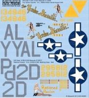 Warbird B26 Yankee Guerrilla, Rationed Passion Plastic Model Aircraft Decal 1/48 Scale #148085