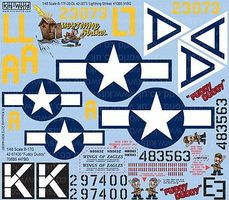 Warbird B17F/G Lightning Strikes, Fuddy Duddy Plastic Model Aircraft Decal 1/48 Scale #148087