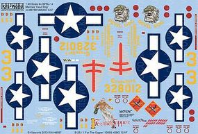 Warbird B25J Devil Dog, 1 For the Gipper Plastic Model Aircraft Decal 1/48 Scale #148097