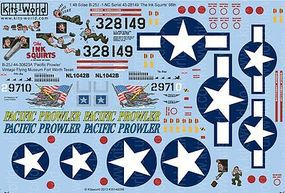 Warbird B25J The Ink Squirts, Pacific Prowler Plastic Model Aircraft Decal 1/48 Scale #148098