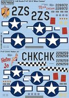 Warbird P47 Miss Caesar, Helen Jo Plastic Model Aircraft Decal 1/48 Scale #148114