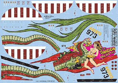 Warbird Decals B24J Dragon & His Tail 43rd BG -- Plastic Model Aircraft Decal -- 1/48 Scale -- #148149