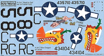 Warbird Decals 1/48 A26C Hard to Get, Silver Dragon