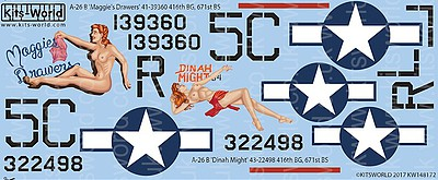 Warbird Decals 1/48 A26B Maggie's Drawers', Dinah Might