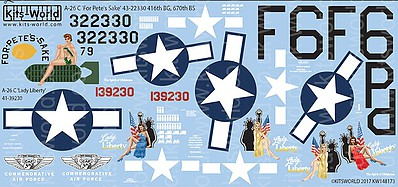 Warbird Decals 1/48 A26C For Pete's Sake, Lady Liberty