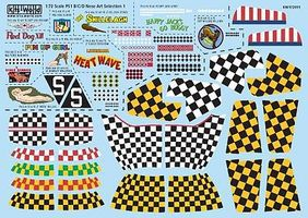 Warbird P51 Kill Markings/Checkers Plastic Model Aircraft Decal 1/72 Scale #172011