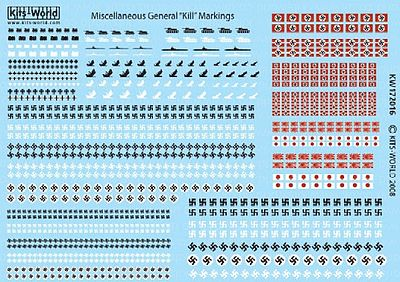 Warbird Decals 1/72 European & Pacific Theatres Allied Kill Markings