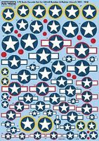Warbird 1/72 Cocarde Stars & Bars for USAAF Bombers & Fighters 1921-1946