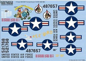 Warbird B29 Command Decision, Kee Bird Plastic Model Aircraft Decal 1/72 Scale #172066