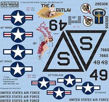 Warbird B29 The Outlaw, Celestial Queen Plastic Model Aircraft Decal 1/72 Scale #172072