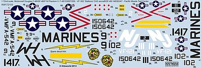 Warbird Decals 1/72 McDonnell F4B Phantom Stallions Naval Air Station, Pacific Missile Test Center