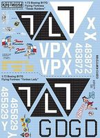 Warbird B17G Texas Raiders, Yankee Lady Plastic Model Aircraft Decal 1/72 Scale #172109