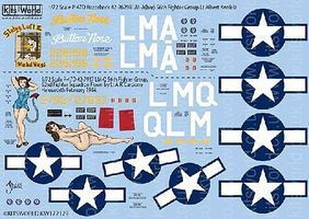 Warbird P47D 56thFG Stalag Luft III, Button Nose, Triss Plastic Model Aircraft Decal 1/72 #172129