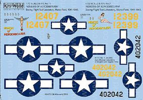 Warbird B17E No7 & 13 Nemesis of Aeroembolism Plastic Model Aircraft Decal 1/72 Scale #172138