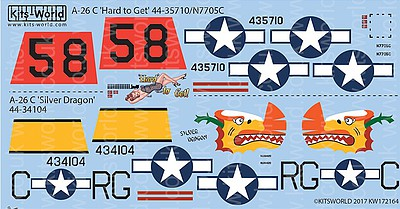 Warbird Decals 1/72 A26C Hard to Get, Silver Dragon