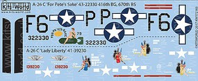 Warbird 1/72 A26C For Petes Sake, Lady Liberty