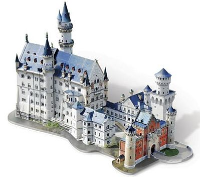 Wrebbit Neuschwanstein Castle, Germany (890pcs) 3D Jigsaw Puzzle #2005