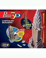 Wrebbit Glow-in-the-Dark Chrysler Building, USA & Radiator Building 3D Jigsaw Puzzle #22808