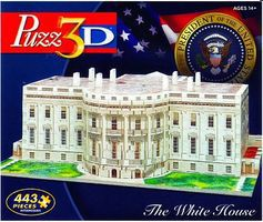 Wrebbit White House, Washington DC, USA (443pcs) 3D Jigsaw Puzzle #24602