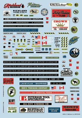 N scale decals model trains
