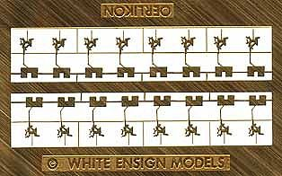 White-Ensign 20mm Oerlikons & Shields Plastic Model Ship Accessory 1/350 Scale #3504