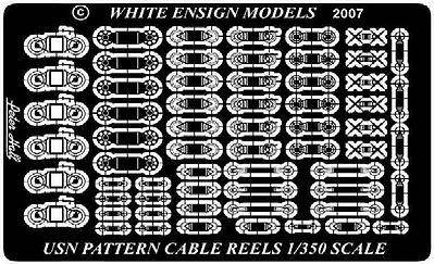White-Ensign USN Cable Reels Plastic Model Ship Accessory 1/350 Scale #35105