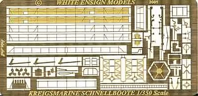 White-Ensign S100 Class Schnellboot Detail Set for TSM Plastic Model Ship Accessory 1/350 Scale #35127
