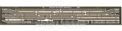 White-Ensign USS Hornet Perforated Catwalk for TSM Plastic Model Ship Accessory 1/350 Scale #3546
