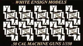 White-Ensign USN .50cal Water-Cooled MG Single (20pcs) Plastic Model Weapon 1/350 Scale #3549