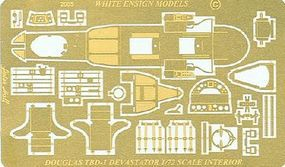 White-Ensign TBD Interior Detail Set for ARX Plastic Model Ship Accessory 1/72 Scale #7218