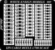 White-Ensign IJN Cable Reels Plastic Model Ship Accessory 1/700 Scale #783