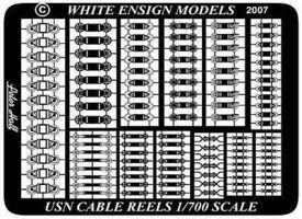 White-Ensign USN Cable Reels Plastic Model Ship Accessory 1/700 Scale #785