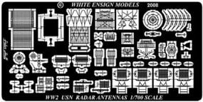 White-Ensign WWII USN Radars Plastic Model Ship Accessory 1/700 Scale #789