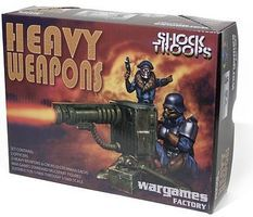 Wargames Greatcoat Shock Troopers with Heavy Weapons Plastic Model Figure Kit 1/56 Scale #as2