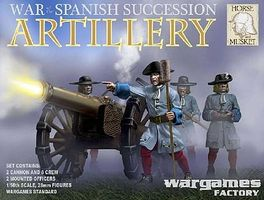 Wargames War of Spanish Succession Artillery Plastic Model Figure Kit 1/56 Scale #hm3