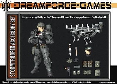 Wargames Factory Eisenkern Stormtrooper Accessory Set -- Plastic Model Figure Kit -- 1/56 Scale -- #ia1