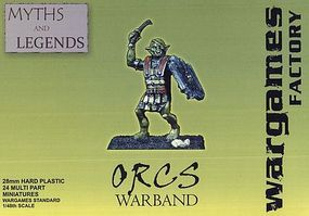 Wargames Orcs Warband Plastic Model Figure Kit 1/56 Scale #ml1