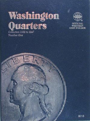 Whitman Publishing Washington Quarters 1932-1945 Coin Folder -- Coin Collecting Book and Supply -- #0307090183