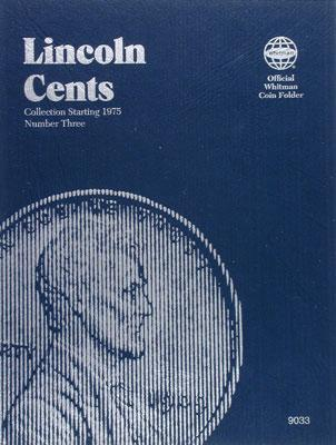 Whitman Publishing Lincoln Cents 1975+ Coin Folder -- Coin Collecting Book and Supply -- #0307090337