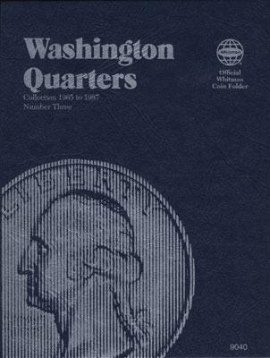 Whitman Publishing Washington Quarters 1965-1987 Coin Folder -- Coin Collecting Book and Supply -- #030709040x