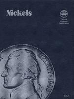 Whitman Nickels Plain Coin Folder Coin Collecting Book and Supply #0307090426