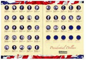 Whitman Presidential Dollar Portfolio 2007-2016 Coin Collecting Book and Supply #0794821723