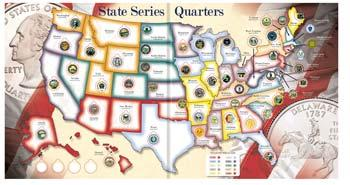 Whitman Publishing State Quarters Collector Map -- Coin Collecting Book and Supply -- #0794821944