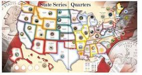 Whitman State Quarters Collector Map Coin Collecting Book and Supply #0794821944