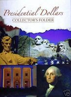 Whitman Presidential Dollar Tri-Fold Folder Coin Collecting Book and Supply #2179