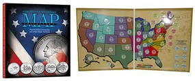 Whitman Statehood Quarters Collector's Map Coin Folder