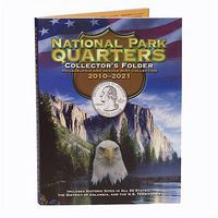 Whitman Natl Park Cushioned Folder Coin Collecting Book and Supply #2878