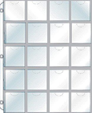 Whitman Publishing 20-Pocket Plastic (2''x2'') 3-Hole Full-View Pages Displays Cardboard Coin Holders, (8-1/2''x11'' Page) (5/Pk)
