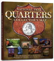 Whitman National Park Quarters Collectors Map Coin Folder